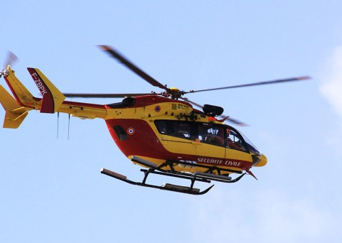 L'aménagement d'une aire d' atterrissage pour les hélicoptères de la sécurité civile